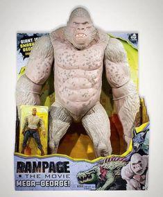 Rampage Movie Toys Exclusively At Wal-Mart Rampage Movie, Gi Joe, Big Iguana, King Kong Vs Godzilla, Godzilla Toys, Kong Toys, Indominus Rex, Animal Action, Dangerous Animals