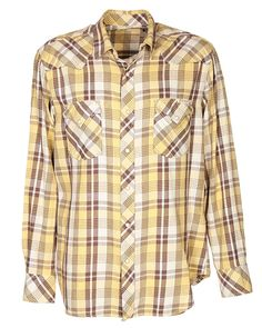 3047c988f 90s Yellow Flannel Shirt - L Yellow £28.0000 | Rokit Vintage Clothing  Yellow Flannel Shirt