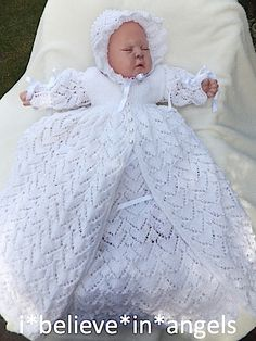 KNITTING PATTERN KSB 51 TOOTSIE..TO MAKE A CHRISTENING GOWN AND COAT, A SNUGGLE DRESS AND A DRESS SET WITH BONNET AND BOOTIES.