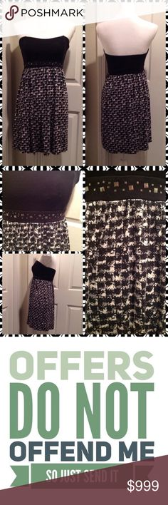 Black Studded Dress Size: M. 95% Rayon and 5% Spandex. City Streets Dresses