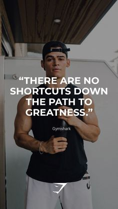 """There are no shortcuts down the path to greatness."" - Gymshark. Save this to your motivational board for a reminder! #Gymshark #Quotes #Motivational #Inspiration #Motivate #Phrases #Inspire #Fitness #FitnessQuotes #MotivationalQuotes #Positivity #Routine #HealthyMindset #Productive #Dreams #Planning #LifeGoals Motivational Board, Inspirational Quotes, Quote Of The Day, Muscle, Gym, Life Goals, Motivationalquotes, Routine, Positivity"
