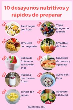 They are 10 easy and healthy breakfasts to make. Delicious and healthy breakfasts. breakfasts de ensalada almuerzos faciles y saludables Healthy Meal Prep, Healthy Breakfast Recipes, Raw Food Recipes, Healthy Snacks, Healthy Eating, Healthy Recipes, Healthy Breakfasts, Food Tasting, Greens Recipe