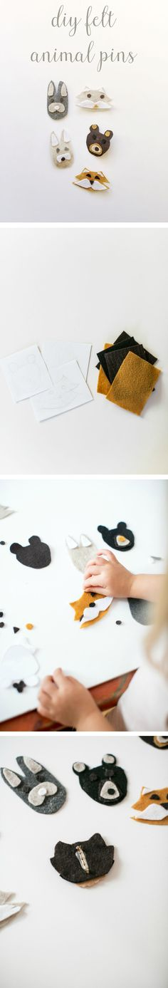 These DIY Animal Felt Pins are as fun to make as they are cute. Your kids will love crafting these adorable animals, and they'll love wearing them too!