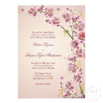 Lilac purple watercolor flowers wedding invitations available at TheInspiredEdge.com