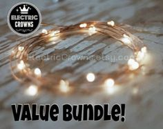 Led Lights Copper wire Rustic wedding Outdoor by ElectricCrowns