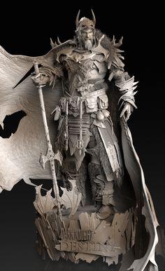 ArtStation - - Viking Batman (Preparing for Battle) -, Caleb Nefzen