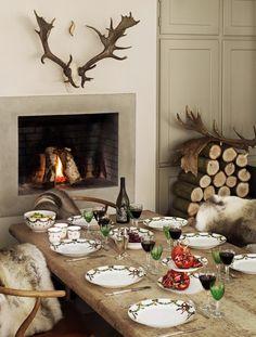 Leuk rustiek sfeertje voor de kerst: alsof je in Finland in een berghut zit