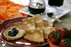 Homemade-French-Crepes with blueberry syrup