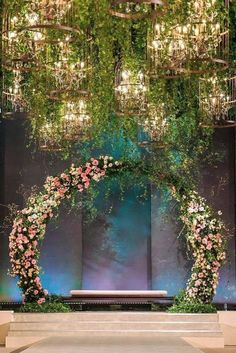 We've rounded up some of the most original wedding altar decoration ideas in different styles. See our gallery for more inspiration! Wedding Backdrop Design, Wedding Stage Design, Wedding Reception Backdrop, Wedding Mandap, Indian Wedding Stage, Pakistani Wedding Decor, Indian Reception, Indian Wedding Receptions, Wedding Backdrops