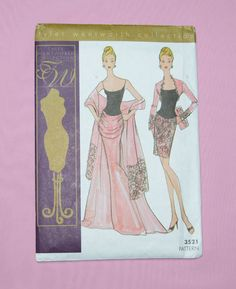 Tonner Tyler Wentworth Collection The Evening Wardrobe Sewing Pattern Uncut 3521 #Tonner #ClothingAccessories