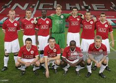 The Manchester United team line up ahead of the FA Youth Cup semi-final second leg match between Manchester United Under-18s and Arsenal Under-18s at Old Trafford on April 2 2007 in Manchester, England. Back Row (L-R): Richard Eckersley, James Chester, Danny Welbeck, Ben Amos, Craig Cathcart, Daniel Drinkwater, Chris Fagan. Front Row (L-R): Corry Evans, Sam Hewson, Febian Brandy, Daniel Galbraith