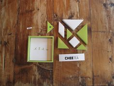 Chee Tea (Student Work) - each tangram shape piece is different flavor and can form specific shape
