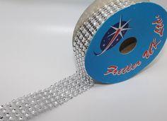 Diamante Effect Ribbon (5 rows) 2m x 25mm - Bridal Weddings Cake Occasions: Amazon.co.uk: Kitchen & Home