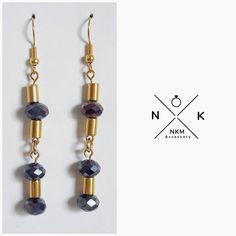 """35 """"Μου αρέσει!"""", 1 σχόλια - ɴᴋᴍ ᴀᴄᴄᴇssᴏʀʏ (@nkmaccessory) στο Instagram: """"Σκουλαρίκια με γυάλινα κρύσταλλα #accessories #jewelrydesign #jewellerylover #beautiful #bracelet…"""""""
