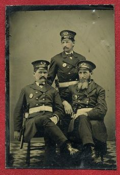 I 6 Plate Tintype 3 Uniformed Victorian Police Officers | eBay