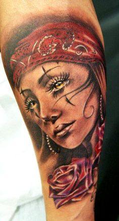 Realism Woman Tattoo by Moni Marino - http://worldtattoosgallery.com/realism-woman-tattoo-by-moni-marino-6/