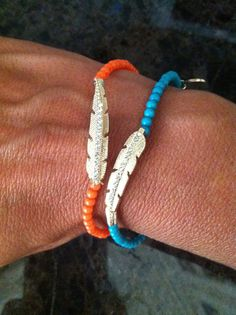 Coral Good Luck feather with rhinestones by GlitzGlamourandBling, $12.00