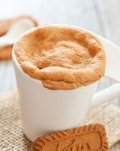 4 Ingredient Cookie Butter Mug Cake | Kirbie's Cravings | A San Diego food blog