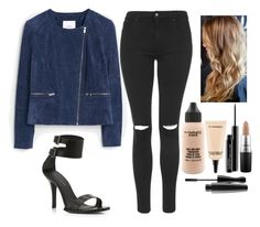 """""""Untitled #5701"""" by kimboloveniallhoran ❤ liked on Polyvore featuring KG Kurt Geiger, MANGO, Topshop and MAC Cosmetics"""