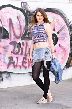 4 Stylez 4 U - Blogparade - The 80s - Die 80er Jahre - kurze Latzhose Croptop - Fashionladyloves - Fashion Blog