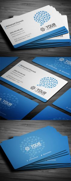 Creative Social Media Business Card #businesscards #printready #psdtemplates