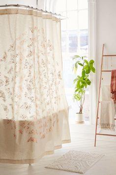 Moth Foiled Shower Curtain