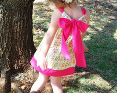 "SWEET ""Candy Crush"" Dress  Baby/Toddler/Girls Pink Pillowcase dress. Easter dress. Birthday girl cake smash outfit. photo shoot. dress up"