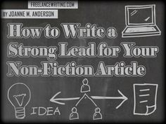Tips to writing a strong and captivating lead for your newspaper article! Writing Strategies, Writing Tips, Writing Prompts, Informational Writing, Nonfiction, Fiction Writing, Writing A Book, Book Proposal, 3rd Grade Writing