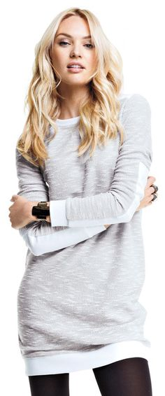 Sweatshirt Dress women fashion clothing outfit apparel style gray casual