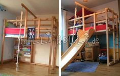 Etagenbett Dreistöckig : Afbeeldingsresultaat voor hochbett rutsche kinderzimmer pinterest