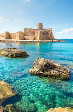 Le Castella at Capo Rizzuto, Calabria. A beautiful part of Italy, not very well known. Visit!