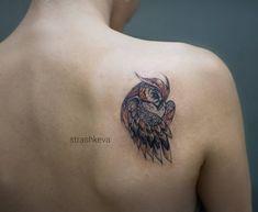 #tattoo #strashkeva #owl #owltattoo #minitattoo #minimalism #dynamic #lineworktattoo #сова #тату #colortattoo  Маленькая цветная прелесть