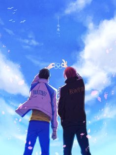 Rin and Haru going to the Olympics