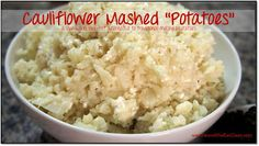 "Cauliflower Mashed ""Potatoes"" #recipe #eatclean #cleaneating  #heandsheeatclean #recipe #lowcarb #lowcalorie"