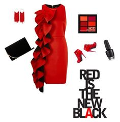 """""""little red kaboose"""" by explorer-15100508446 on Polyvore featuring L.K.Bennett, River Island and NYX"""