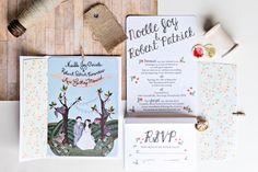 The Illustrated Wedding Invitations at Greenhill Farm