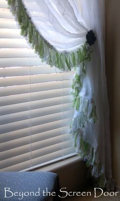 Custom Ribbon Fringe Curtain 1