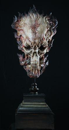 "Akihito Ikeda ""Fire Skull"""
