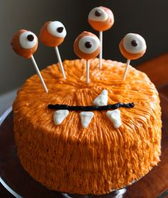 Monster Cake - This will really put the scare into your Halloween party. - Click Pic for Recipe - #halloween #food #ideas