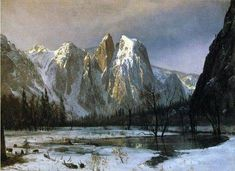 Yosemite Valley 11x14 PRINT POSTER El Capitan California 1875 ALBERT BIERSTADT