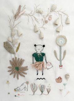 How to embroider a digitalis garden-01-LR