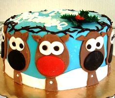 Reindeer cake for the holidays from Mueller's Bakery!