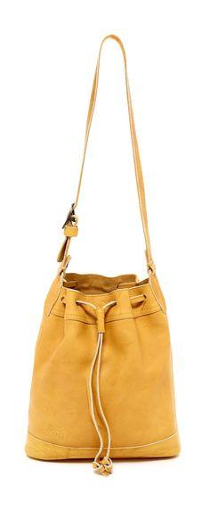 Fun, yellow Vintage drawstring bag
