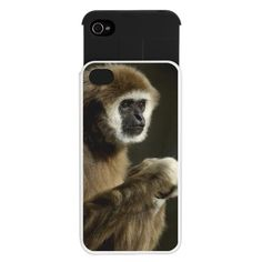 White Handed Gibbon iPhone 4/4s Wallet Case $24.50
