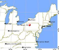 nice Map of Saint Marys