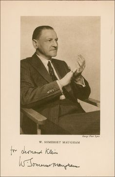 Somerset Maugham Somerset Maugham, English Writers, Playwright, Composers, Painters, Authors, Famous People, Faces, Portraits