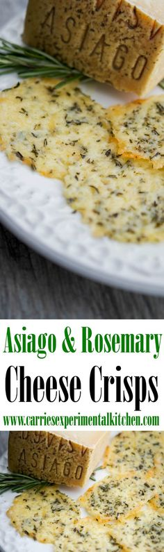 Asiago & Rosemary Cheese Crisps are a fun, tasty addition to your meal planning. Use cheese crisps to top your favorite soup or salad or eat them 'as is' for a snack.