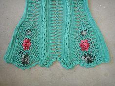 Handmade Crochet Boho Mini Dress Tunic Flower por Tinacrochetstudio
