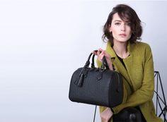 Elegant Black Boston Handbag by VH