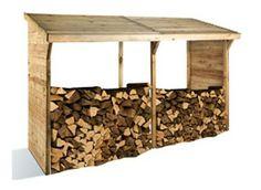 Un espace de stockage pratique uniquement pour le bois! Cet abri buche en bois traité autoclave peut contenir 5 stères.